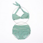 Two Piece Green Check (SOLD) – Available in Royal Blue
